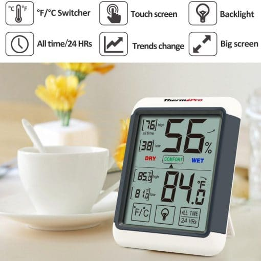 ThermoPro TP-55 Humidity and Temperature Monitor Features