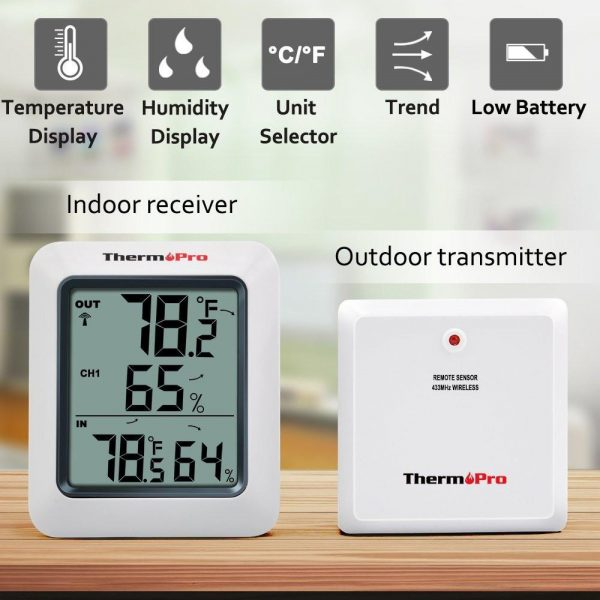 Thermopro TP60  Thermometer Humidity Monitor Features
