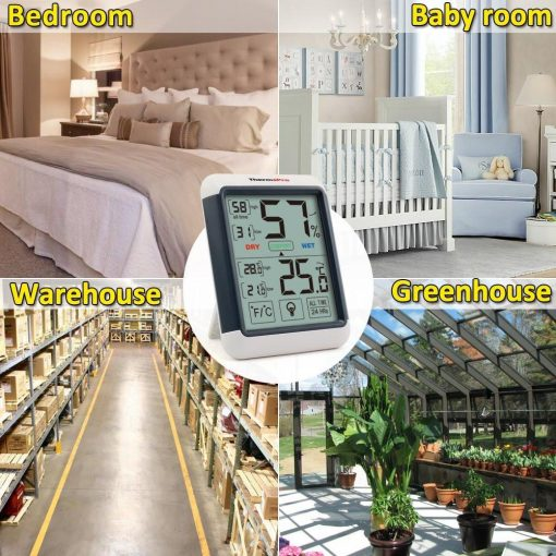 ThermoPro TP-55 Humidity and Temperature Monitor Greenhouse Bedroom Baby Room Warehouse