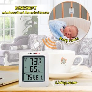 Thermopro TP60 Thermometer Humidity Monitor Place in Baby's room