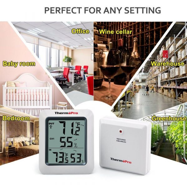 Thermopro TP60  Thermometer Humidity Monitor - Works in any environment