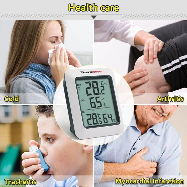Thermopro TP60  Thermometer Humidity Monitor - Stay Healthy