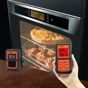 ThermoPro TP-07 Thermometer Transmitter Probe Inserted In Food within Oven