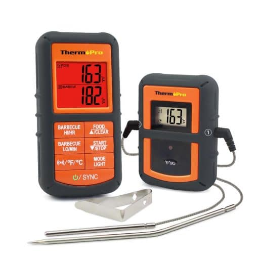 ThermoPro TP-08 Thermometer Front View Transmitter and Receiver