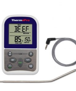 ThermoPro TP 10 Thermometer Front View Probe Cord Removed