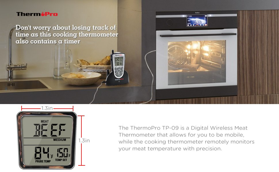 ThermoPro TP-09 Digital Wireless Meat Thermometer