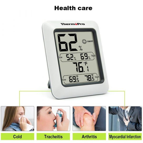 ThermoPro TP-50 Humidity and Temperature Monitor Healthcare