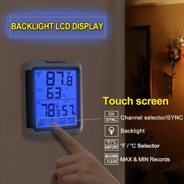 ThermoPro TP-65 Backlight and Touchscreen Display