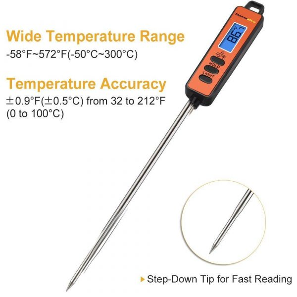 ThermoPro TP01A Instant Read Thermometer - Features Labelled