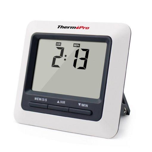 ThermoPro TP-04 Digital Thermometer Showing Timer