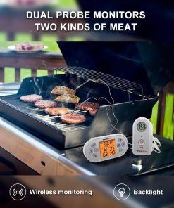 ThermoPro TP-22 Digital Wireless Thermometer - Dual Probes (Monitor Two Kinds of Meat)