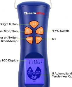 ThermoPro TP-05 Digital Thermometer Fork - Handle Labelled