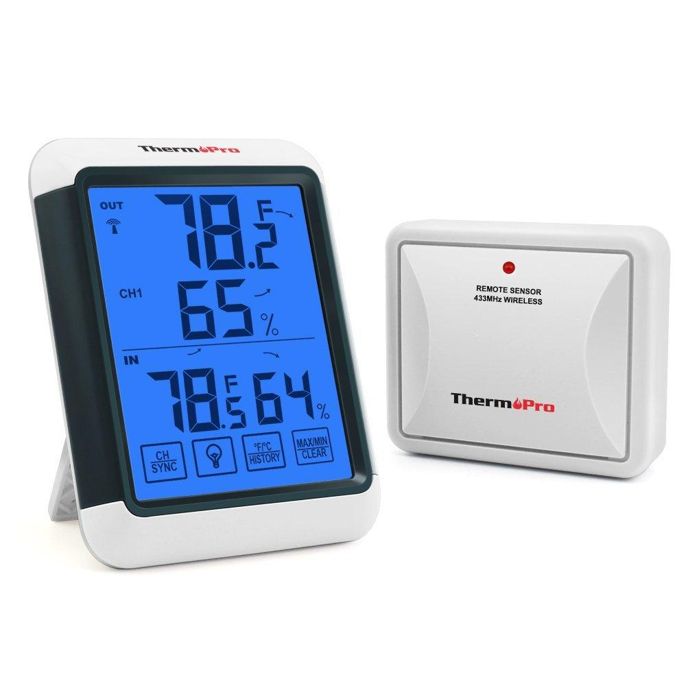 ThermoPro TP-65 Indoor Outdoor Temperature and Humidity Monitor