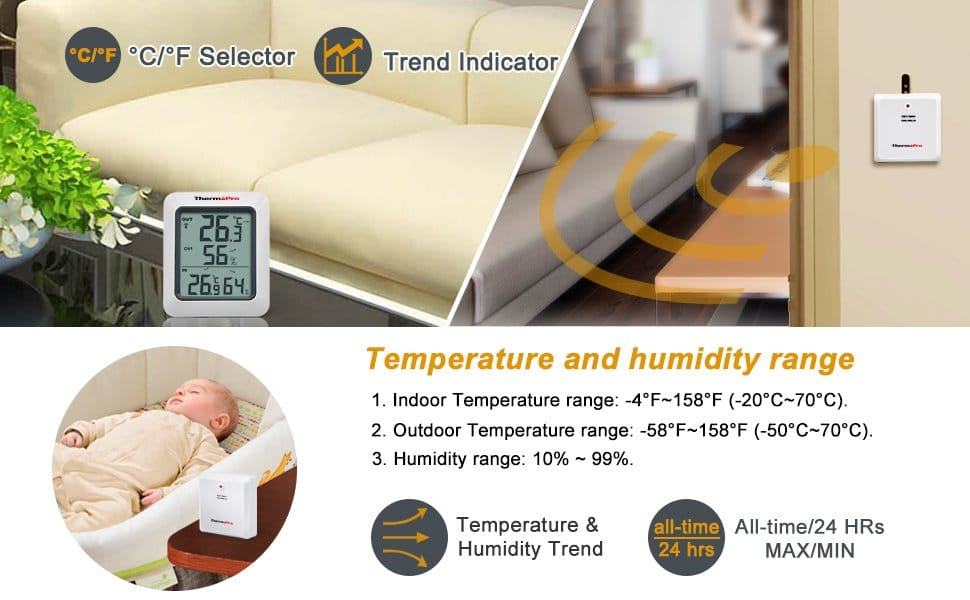 ThermoPro TP-60 Temperature and Humidity Monitor