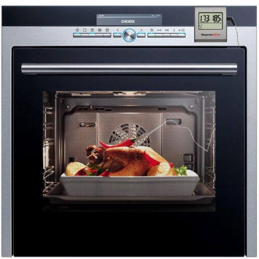 ThermoPro TP-16 Digital Meat Thermometer magnetized to oven