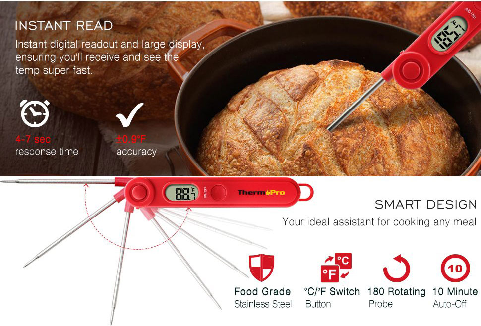 ThermoPro TP03A Instant Read Thermometer