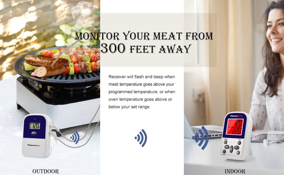 Monitor Your meat Temperature from 300 feet away with TP12