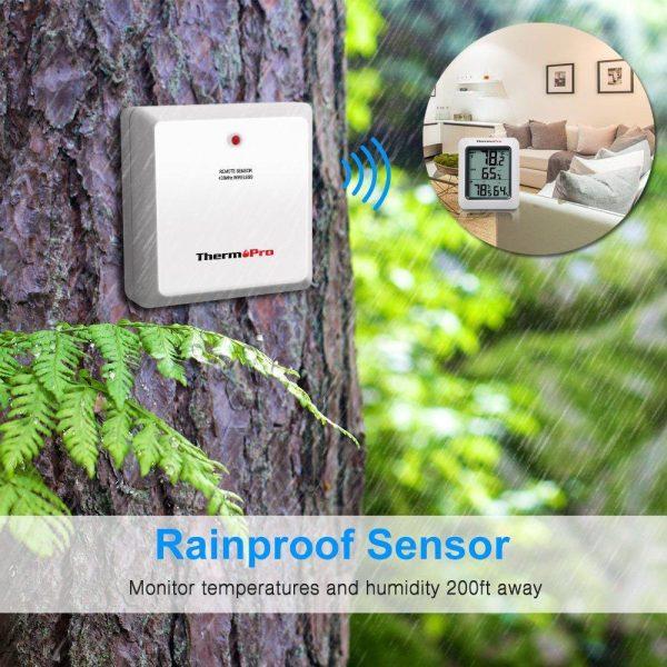 ThermoPro TP60 Indoor Outdoor Replacement Sensor - Rainproof