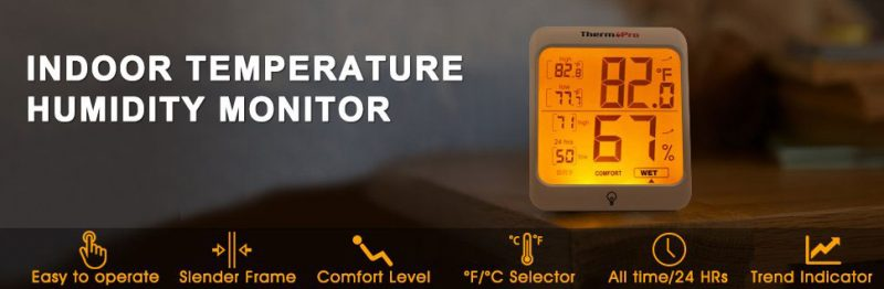 ThermoPro TP53 Hygrometer Thermometer Humidity Gauge