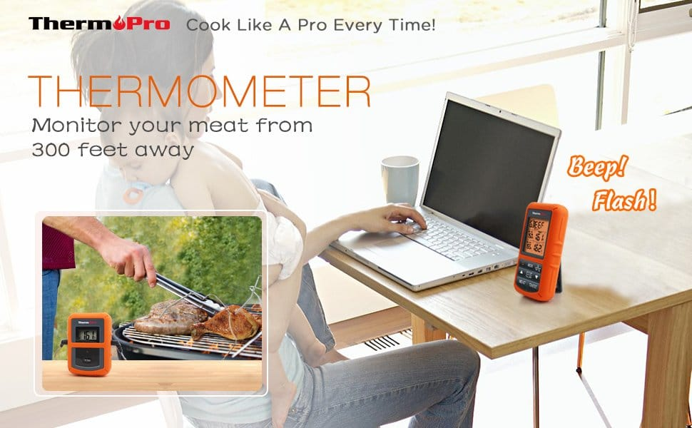Monitor Your Meat Temperature from 300 feet away