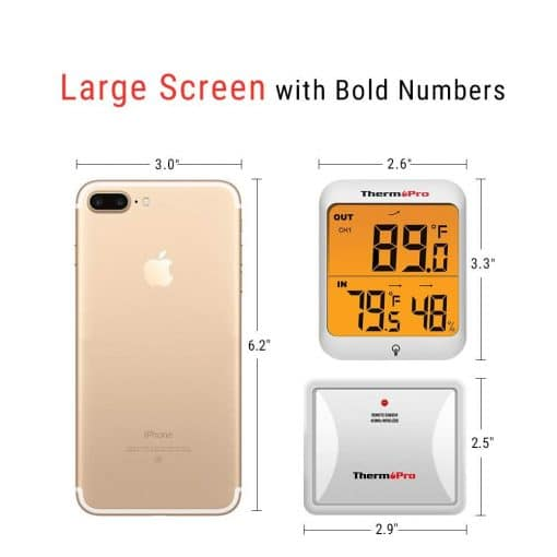 large screen thermopro with bold numbers