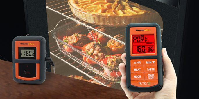 ThermoPro TP20 Wireless Remote Digital Food Meat Thermometer