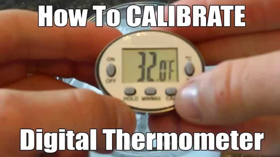 How to calibrate digital food thermometer