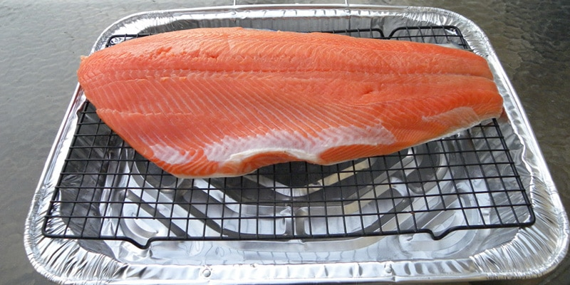 Air-drying the salmon before you smoke it