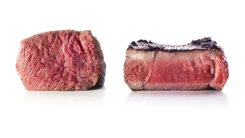 use a thick steak than a thin one to grill