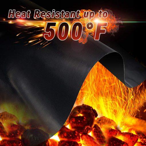 high heat support grill mat