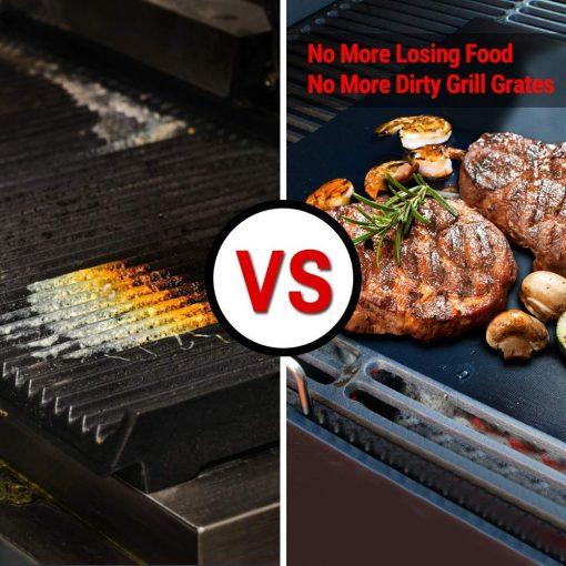 no grilling mat vs using grill mat