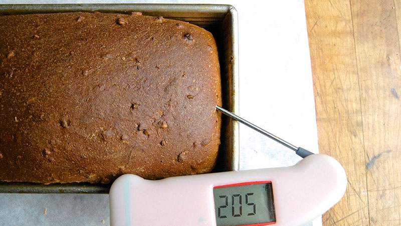 check bread temp with thermometer