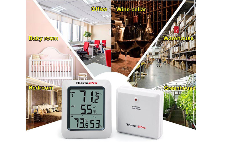 ThermoPro TP-63 Hygrometer use for both outdoor and indoor