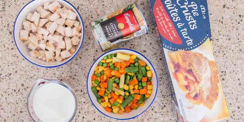 thanksgiving leftover recipe turkey pot pie ingredients