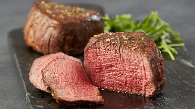 medium rare filet cooking temp
