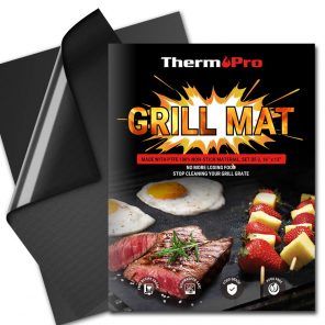 Grill mat banner