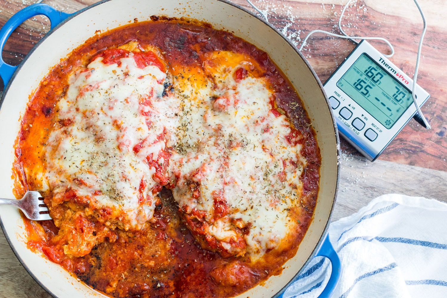 Almond Crusted Chicken Parmesan Banner 1
