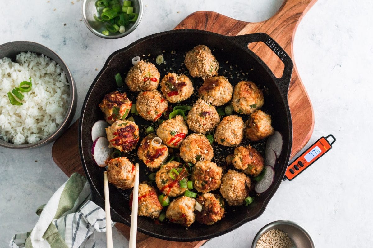 ThermoPro Recipe Carrot Ginger Meat Balls 6