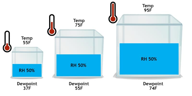 differences between relative humidity and absolute humidity