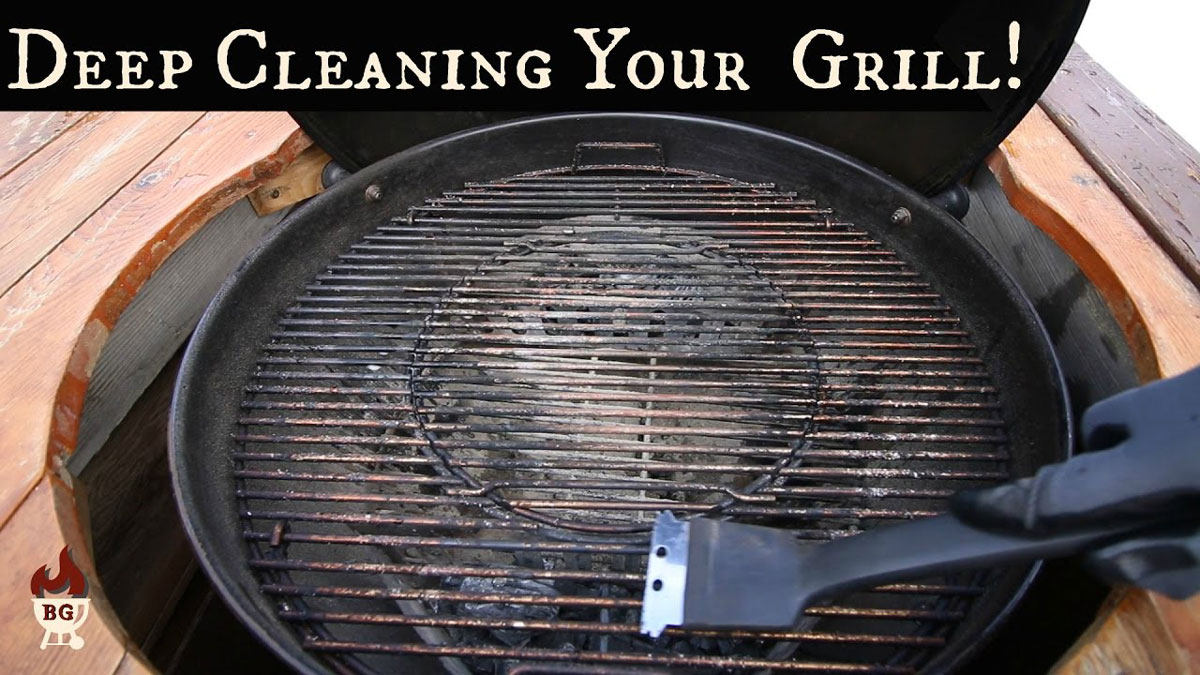 deep clean your grill