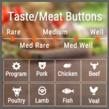 ThermoPro Thermometer Taste/Meat Button