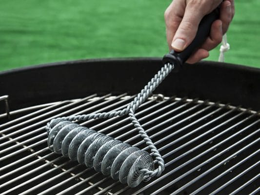 how to clean grill brush