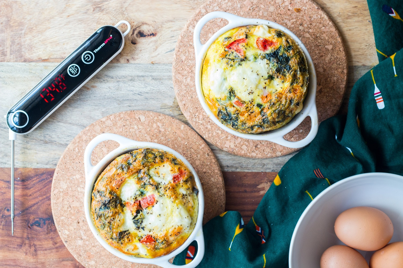 Mozzarella Veggie Egg Bake Recipe Banner
