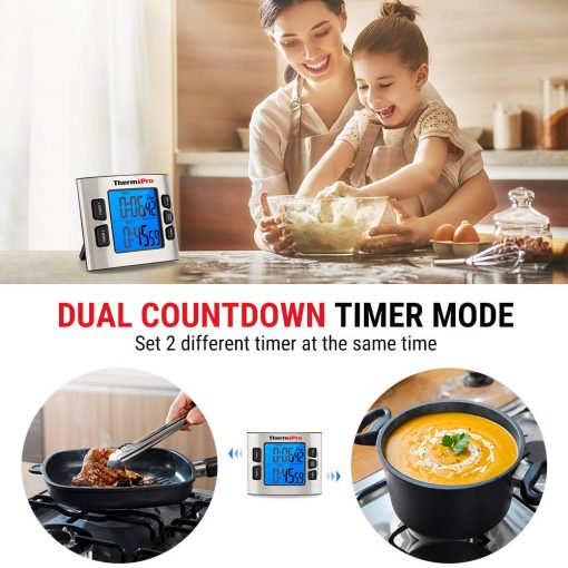 ThermoPro Timer Dual Countdown Timer Mode