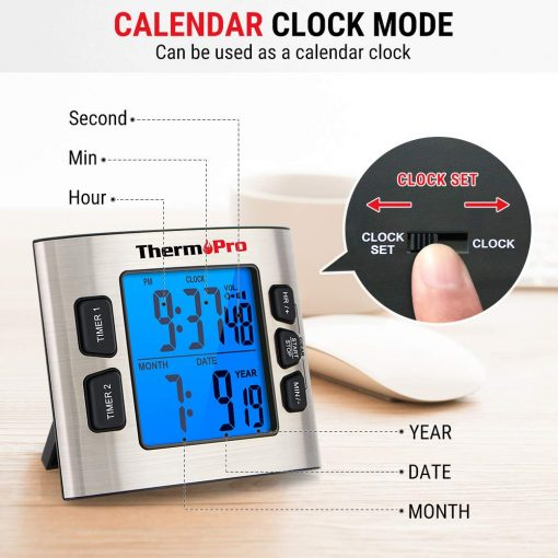 ThermoPro Timer Calendar Clock Mode