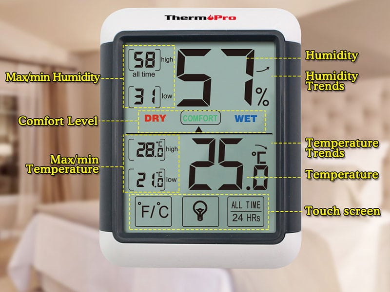 how to change to fahrenheit on ThermoPro indoor/outdoor thermometers
