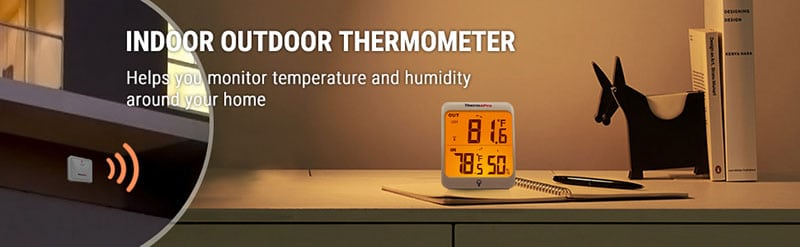 measure indoor and outdoor temperature and humidity