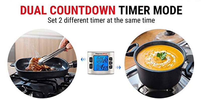How to Set Two Timers Using ThermoPro Digital Kitchen Timer