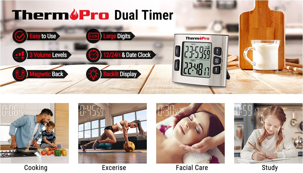 thermopro dual timer banner