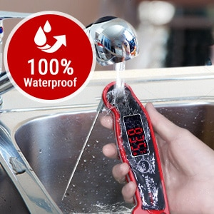 Waterproof food thermometer